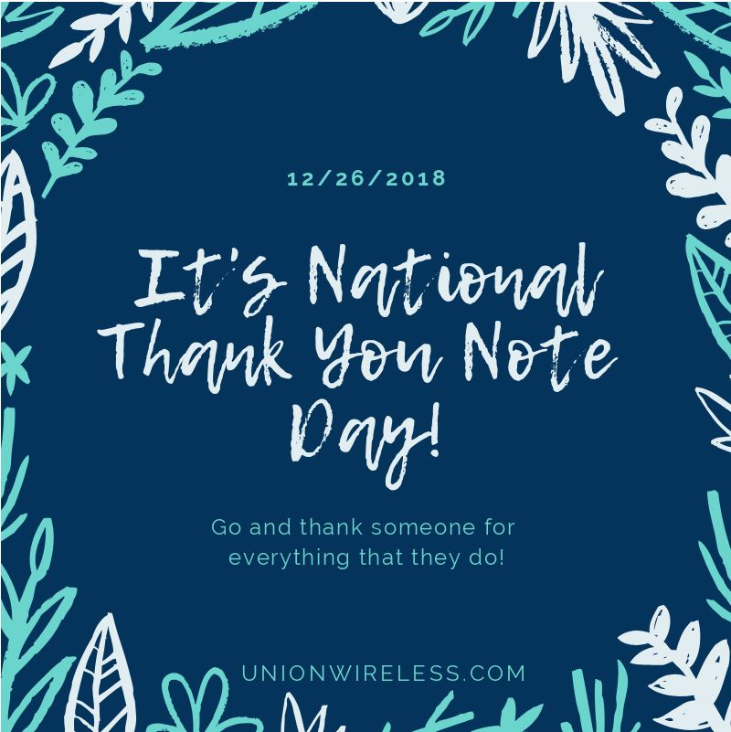 National Thank You Note Day Graphic